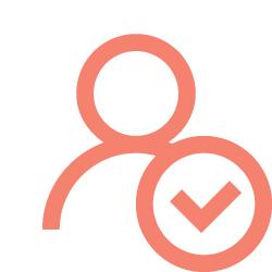 L'icône montre une personne avec une coche